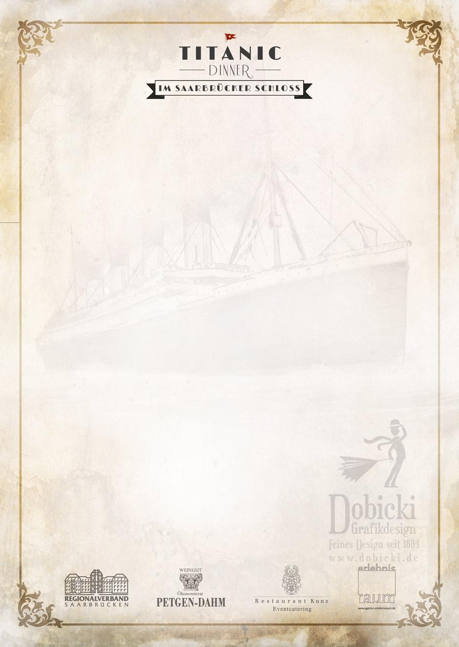 Briefpapier Titanic Dinner FRONT druckfinal