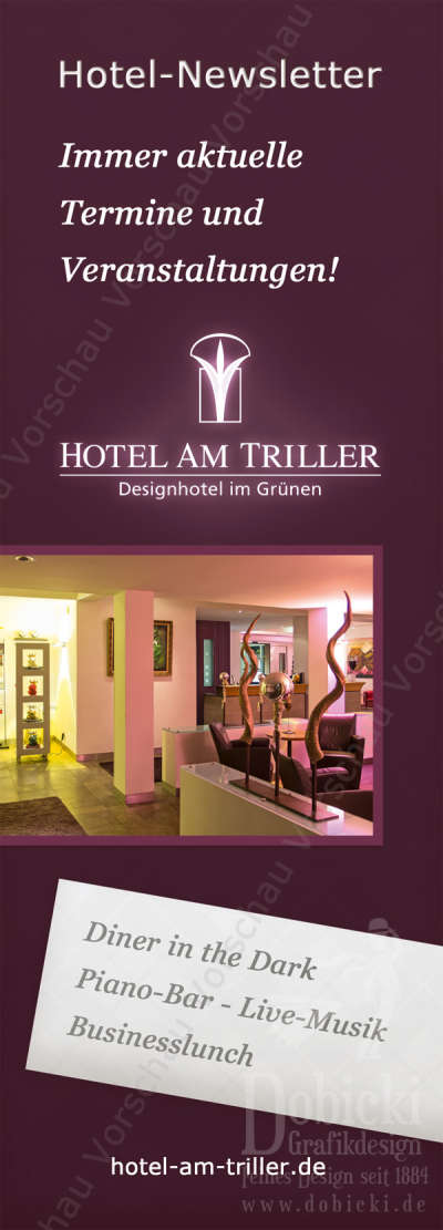 hotel am triller newsletterflyer back